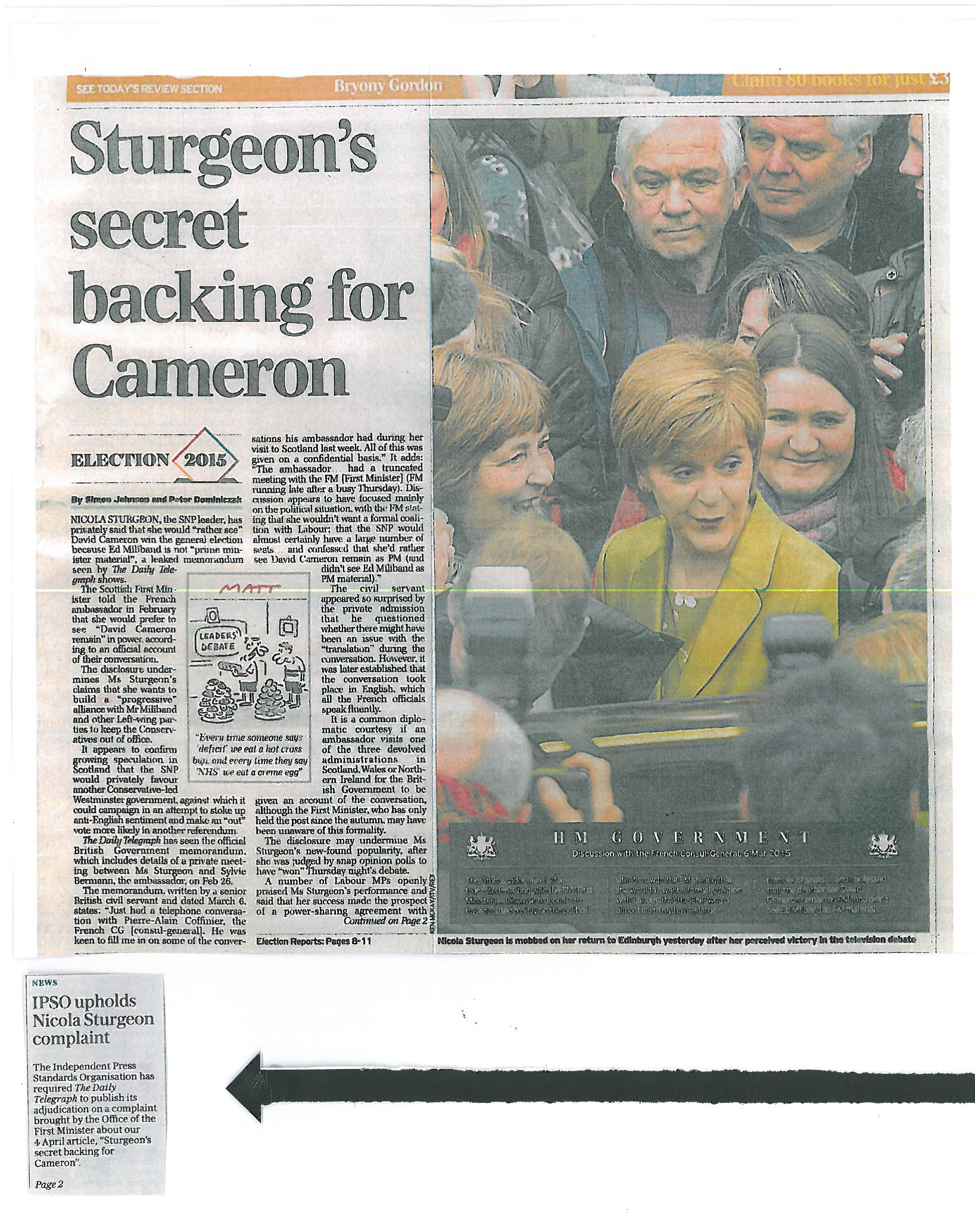 Nicola Sturgeon Telegraph