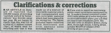 recycling mail correction