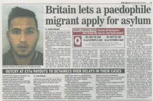 20150528 Daily Express. Accuracy. Britain lets a paedophile migrant apply for asylum copy