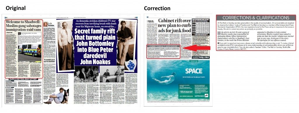 Mail On Sunday Compare And Contrast